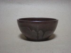太田哲三窯 鉄釉4寸丸深鉢