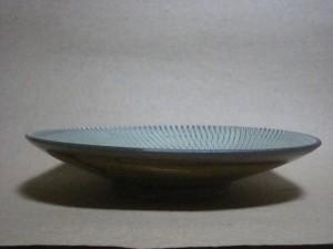 ウス青トビカンナ8寸皿