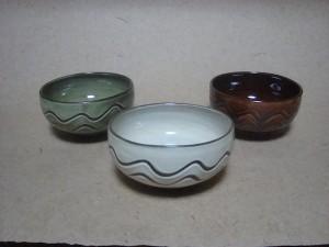 黒木富雄窯 指描4寸丸鉢
