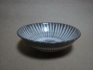 小鹿田 坂本浩二窯 打ち刷毛目7寸鉢