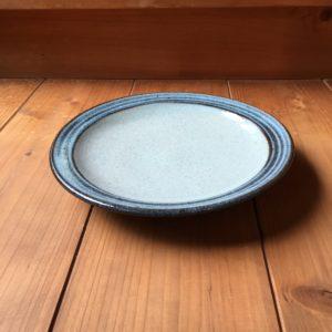 小代焼ふもと窯 縁櫛描7寸皿