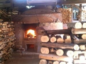小代焼ふもと窯窯焚き