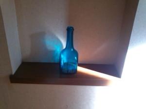 夕暮れ時のガラス