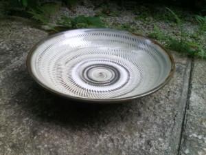 小鹿田 坂本浩二窯 トビカンナ7.5寸深皿